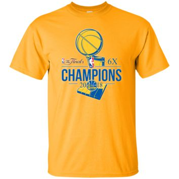 GOLDEN STATE WARRIORS 2018 NBA FINALS CHAMPIONS Cotton T-Shirt