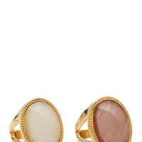 Cocktail Hour Faux Stone Ring Set