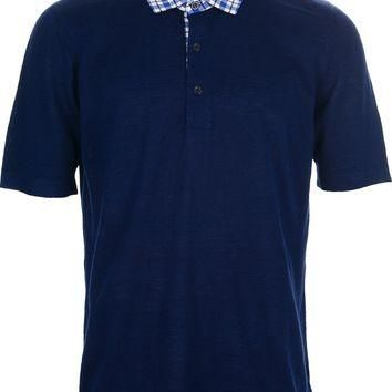 Kiton Check Collar Polo Shirt
