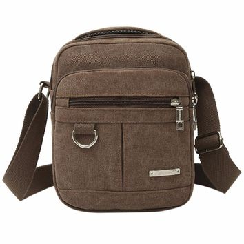 Fashion Men Shoulder Crossbody Bag High Quality Canvas Computer Bags