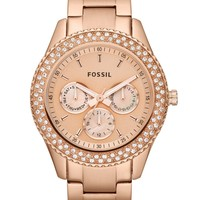 Fossil Watch, Women's Chronograph Stella Glitz Rose Gold Ion Plated Stainless Steel Bracelet 37mm ES3003 - All Watches - Jewelry & Watches - Macy's