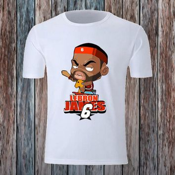 cartoon basketball players fitness t shirt  number 5