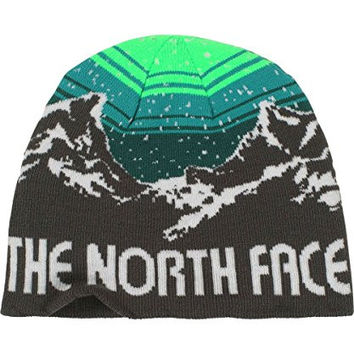 The North Face Youth Anders Beanie Graphite Grey/Depth Green M