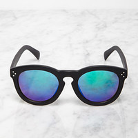 Mirrored D-Frame Sunglasses