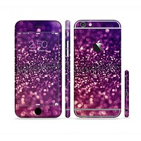 The Unfocused Purple & Pink Glimmer Sectioned Skin Series for the Apple iPhone 6