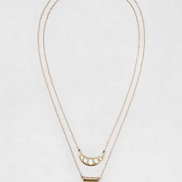 AEO Opal & Bars Pendant Necklaces , Gold