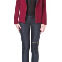 AS by DF Cerise Ribbed Sweater Jacket