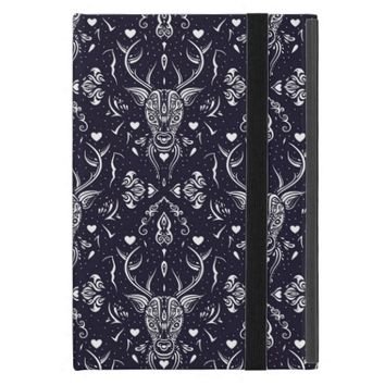 Cute Black and White Tribal Deer Pattern iPad Mini Cases