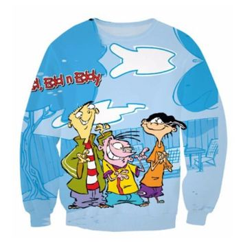 New Fashion Womens/Mens Totally 90's Ed Edd n Eddy Funny 3D Print casual Long Sleeve Crewneck Sweatshirts WYXMB0009
