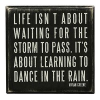 "Kathy's Kreations ""Dance in the Rain"" Wooden Box Sign Art"