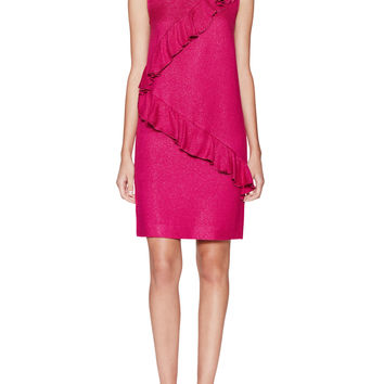 Love Moschino Women's Ruffled Front Shift Dress - Pink -