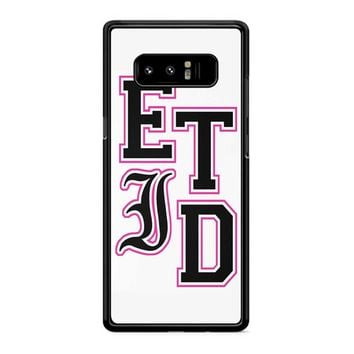 Every Time I Die Varsity Letters Samsung Galaxy Note 8 Case