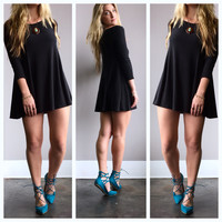 A Soft Kitty Tunic in Black