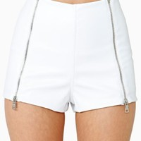 Halen Vegan Leather Shorts