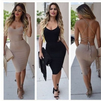 Sexy Women Bandage Bodycon Dress Evening Cocktail Party Night Club Wear Dress [9221266948]