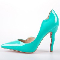 Christian Louboutin Fashion Edgy Wave Pointed Heels Shoes