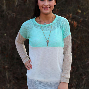 Colorblock Sweater {Mint Mix}