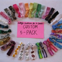 Custom 5 Pack Hair Ties