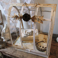 Terrarium display case w/ casters large open air observation showcase rusty painted metal ornate arched style home decor anita spero design