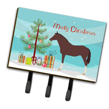 English Thoroughbred Horse Christmas Leash or Key Holder BB9280TH68