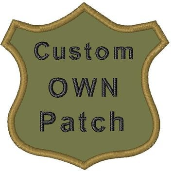 Custom own patch for clothing iron on patch/patches military/punisher patch