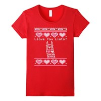 Ugly Valentines Day Sweater Llama T-Shirt
