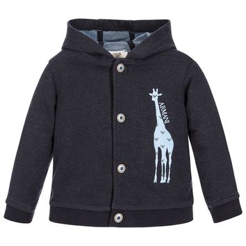 Armani Baby Boys Giraffe Hooded Cardigan