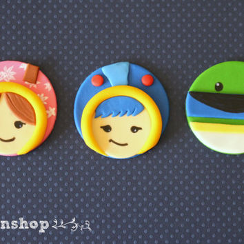 Team umizoomi cupcake toppers /fondant