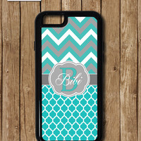 iPhone 6S case, Teal Chevron iPhone 6 Case, Teal iPhone 5 case, Monogram iPhone 5c case, iPhone 6 plus case, turquoise iphone