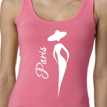 J'Adore Paris // Woman's Tank Top T Shirt Tee Shirt // Multi-Colors and Sizes Available // Womens T-Shirt