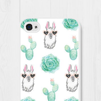 Llama Phone Case iPhone 6 Case Cactus iPhone 7 Case Cactus iPhone 6s Case Llama iPhone 5 Case Cactus Samsung Galaxy S6 Case iPhone SE Case