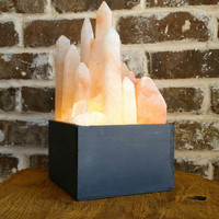 CrystaLux™ Himalayan Salt Crystal Display Light Box and Lamp