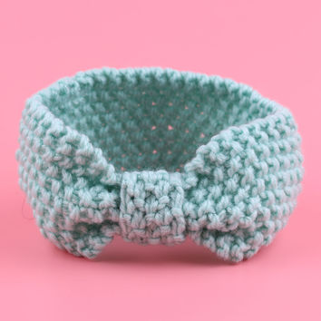 Winter Warm Babys Turban Ear Warmer Headwrap Girls' Knot Crochet Headband Knitted Hairband Headwrap Hair Band Accessories