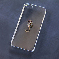 Transparent iPhone 5 Case Clear iPhone 4s Case Seahorse iPhone 6 Plus Galaxy S4 Animal Case Animal iPhone 5 Case Animal iPhone Case Clear