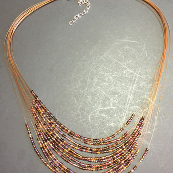 "18"" 12 Strand Seed Bead Necklace"