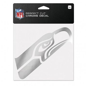 Seattle Seahawks Decal 6x6 Perfect Cut Chrome
