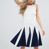The English Factory Sleeveless Dress With Ruffle Detail at asos.com
