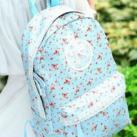 Backpack with Flora Print and Lace FXI763 from topsales