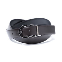 NEW SALVATORE FERRAGAMO Reversible Belt CALF Brown