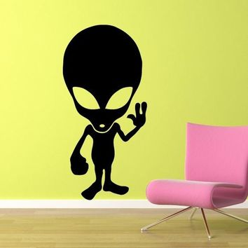 Alien Wall Decal - Sci-fi wall art - Alien Wall Sticker - Extraterrestrial