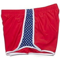 Star Spangled Shorts in Patriot Red by Krass and Co.