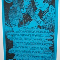 "Original Vintage 1972 ""The Note"" Blacklight Inspirational Poster"