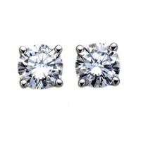 18k Gold and Diamond Stud Earrings (1/3 cttw, H-I Color, SI1-SI2 Clarity)