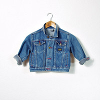 70s OSH KOSH Unisex Kids Denim Jacket / 3 Years - 100 cm