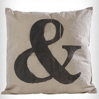 Ampersand Imprint Pillow | PLASTICLAND