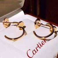 Cartier Stylish Classic Women Nail Earrings Accessories Jewelry