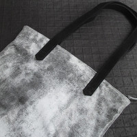 LEATHER TOTE BAG - BEDROCK