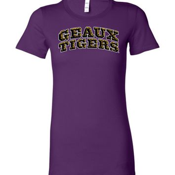 Official NCAA Louisiana State University Tigers LSU GEAUX Tiger Mike Ladies Favorite Tee - lsut1053