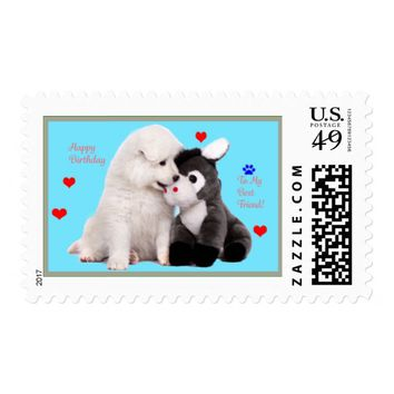 Matching Samoyed US Postage First Class