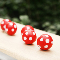 Kawaii Mushroom Push pins /Thumb tacks / Bulletin Board Supplies